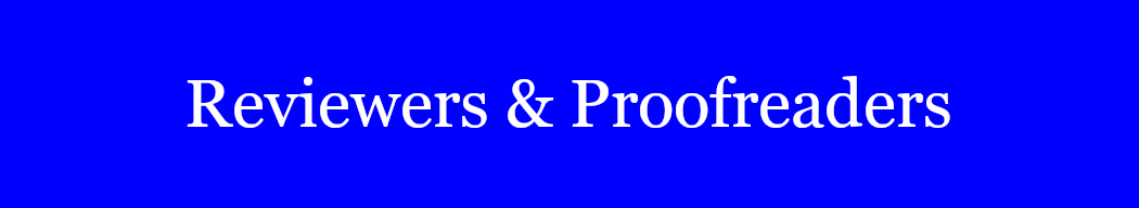 Reviewers and Proofreaders